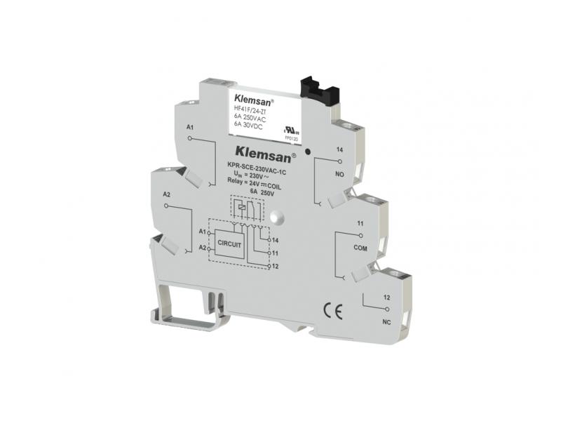 Klemsan 1 C/O Plc Relay 230VAC/DC ; 270850