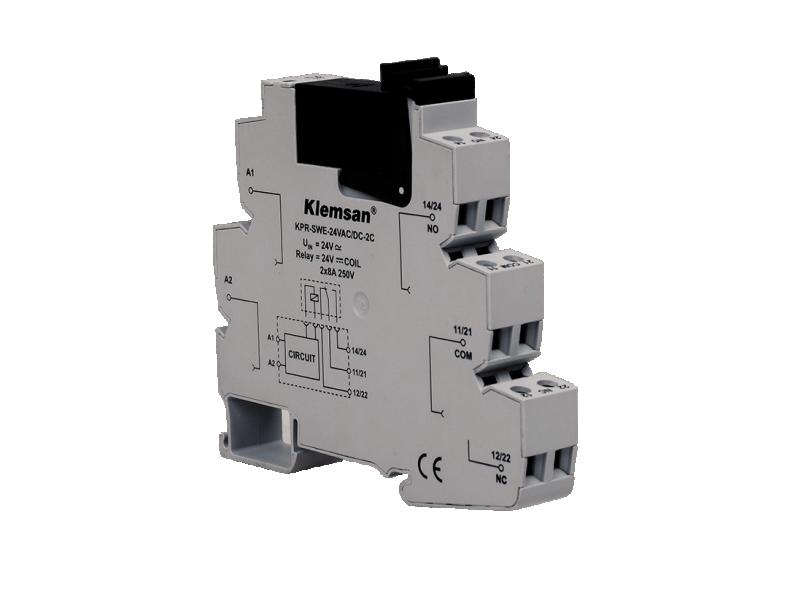 Klemsan 2 C/O PLC Relay 12VDC ; 272524