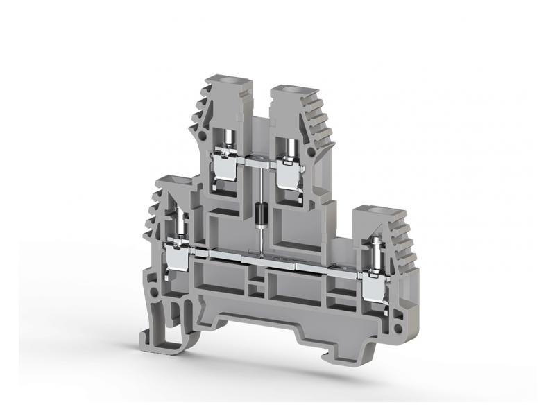 Klemsan Dvospratna redna stezaljka sa diodom PIK NLD 2.5mm² ; 317219
