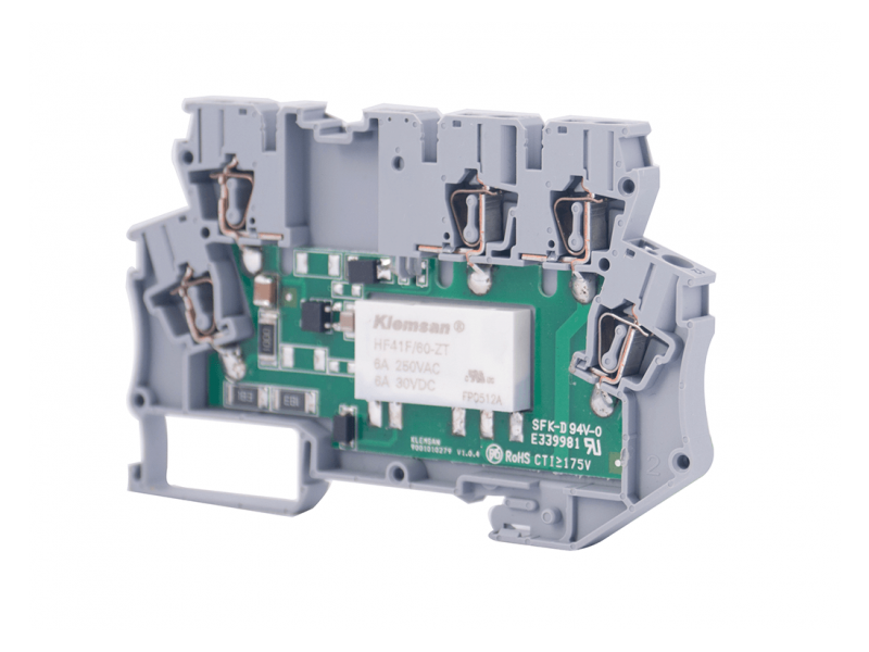 Klemsan Integrated Interface Relay Module  24VAC/DC ; 271520