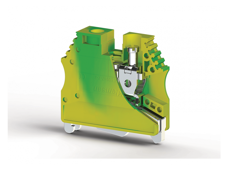 Klemsan Jednostruka redna stezaljka za provodnike uzemljenja AVK 10mm² ; 334470