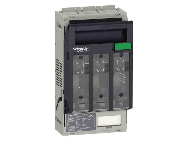 Schneider Electric Rastavljač sa osiguračima, Fupact ISFT160, 160 A, DIN NH00, tropolni, montaža na ploču, 2.5 to 95 mm² kabl sa konektorom ; LV480