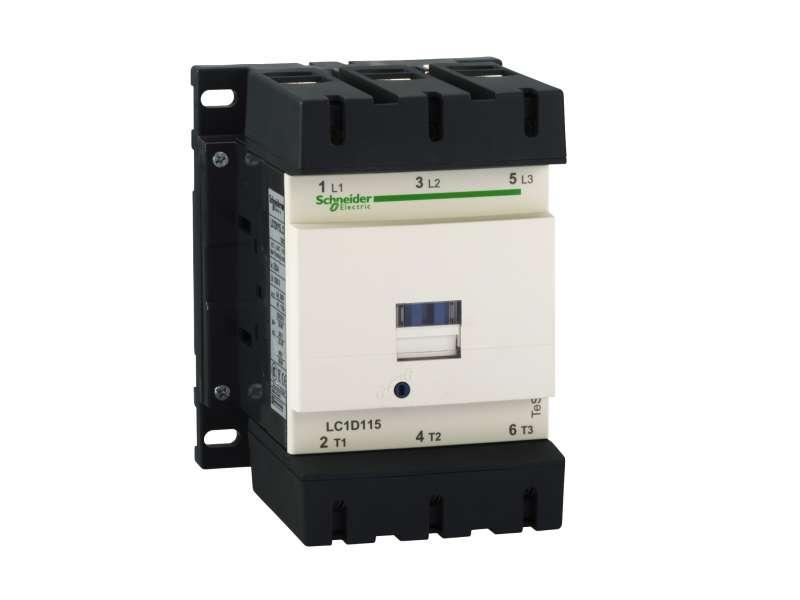 Schneider Electric TeSys D kontaktor - 3P(3 NO) - AC-3 - <= 440 V 115 A - 230 V AC 50/60 Hz kalem ; LC1D115P7