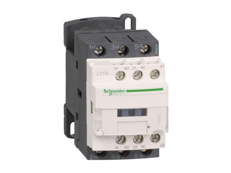 Schneider Electric TeSys D kontaktor - 3P(3 NO) - AC-3 - <= 440 V 18 A - 24 V AC kalem ; LC1D18B7
