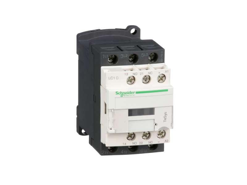 Schneider Electric TeSys D kontaktor - 3P(3 NO) - AC-3 - <= 440 V 18 A - 24 V DC kalem ; LC1D18BD