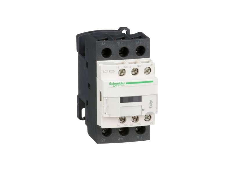 Schneider Electric TeSys D kontaktor - 3P(3 NO) - AC-3 - <= 440 V 25 A - 24 V AC kalem ; LC1D25B7