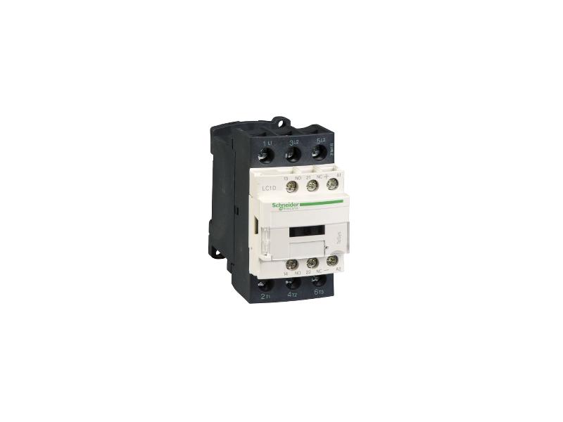 Schneider Electric TeSys D kontaktor - 3P(3 NO) - AC-3 - <= 440 V 25 A - 24 V DC kalem ; LC1D25BD