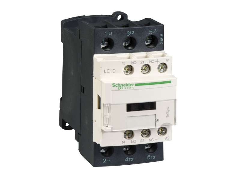 Schneider Electric TeSys D kontaktor - 3P(3 NO) - AC-3 - <= 440 V 25 A - 24 V DC kalem; LC1D25BL