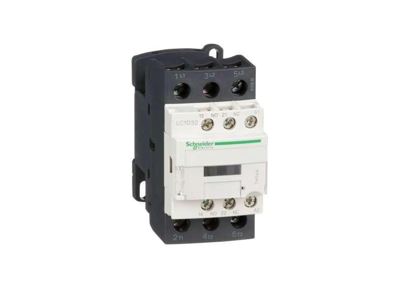 Schneider Electric TeSys D kontaktor-3P(3 NO) - AC-3 - <=440 V 32A- 24 V AC kalem ; LC1D32B7