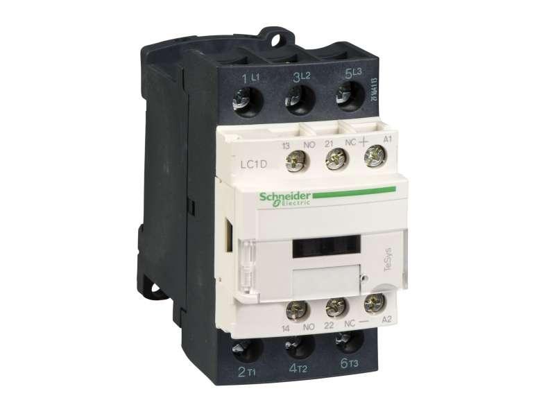 Schneider Electric TeSys D kontaktor-3P(3 NO) - AC-3 - <=440 V 32A- 24 V DC kalem ; LC1D32BD