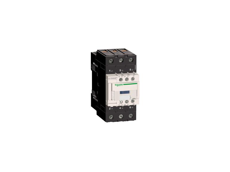 Schneider Electric TeSys D kontaktor - 3P(3 NO) - AC-3 - <= 440 V 40 A - 230 V AC 50/60 Hz kalem ; LC1D40AP7