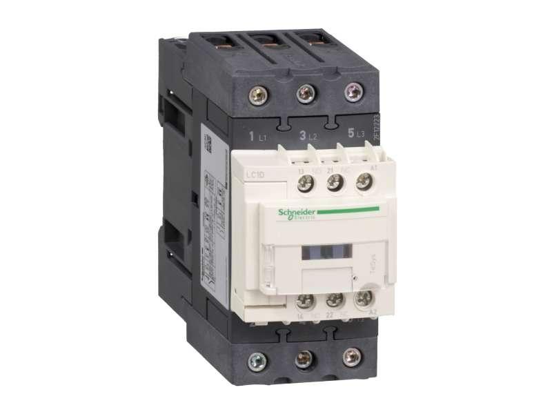Schneider Electric TeSys D kontaktor - 3P(3 NO) - AC-3 - <= 440 V 40 A - 24 V AC 50/60 Hz kalem ; LC1D40AB7