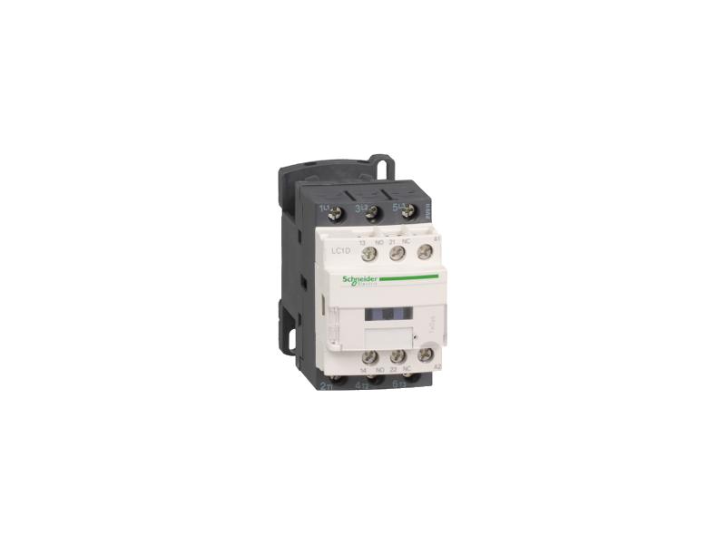 Schneider Electric TeSys D kontaktor - 3P(3 NO) - AC-3 - <= 440 V 9 A - 24 V AC kalem ; LC1D09B7