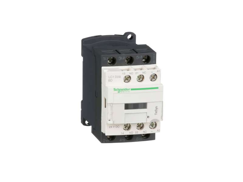 Schneider Electric TeSys D kontaktor - 3P(3 NO) - AC-3 - <= 440 V 9 A - 24 V DC kalem ; LC1D09BD