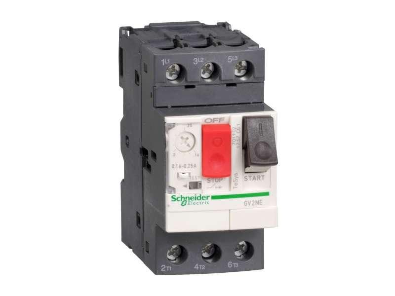 Schneider Electric TeSys GV2-prekidač-termomagnetna zaštita - 4...6.3 A - vijčani priključak; GV2ME10