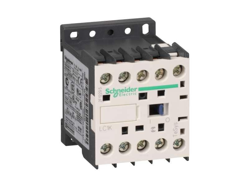 Schneider Electric TeSys K kontaktor - 3P(3 NO) - AC-3 - <= 440 V 6 A - 380...400 V AC kalem ; LC1K0601Q7