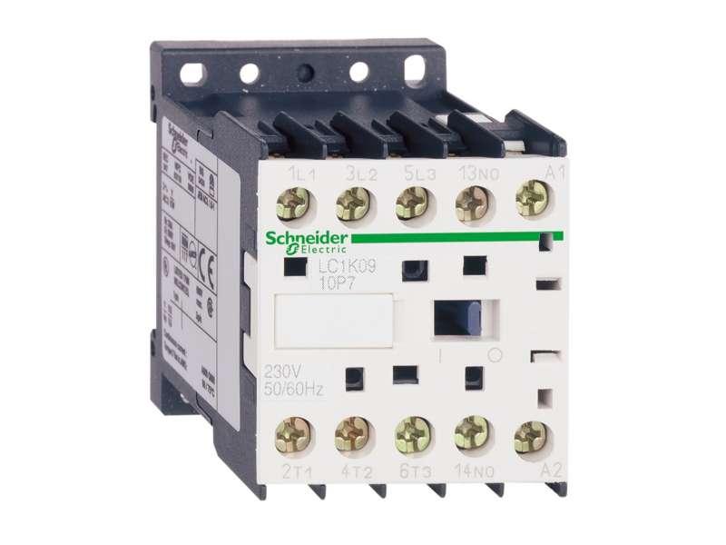 Schneider Electric TeSys K kontaktor - 3P(3 NO) - AC-3 - <= 440 V 9 A - 230 V AC kalem; LC1K0910P7