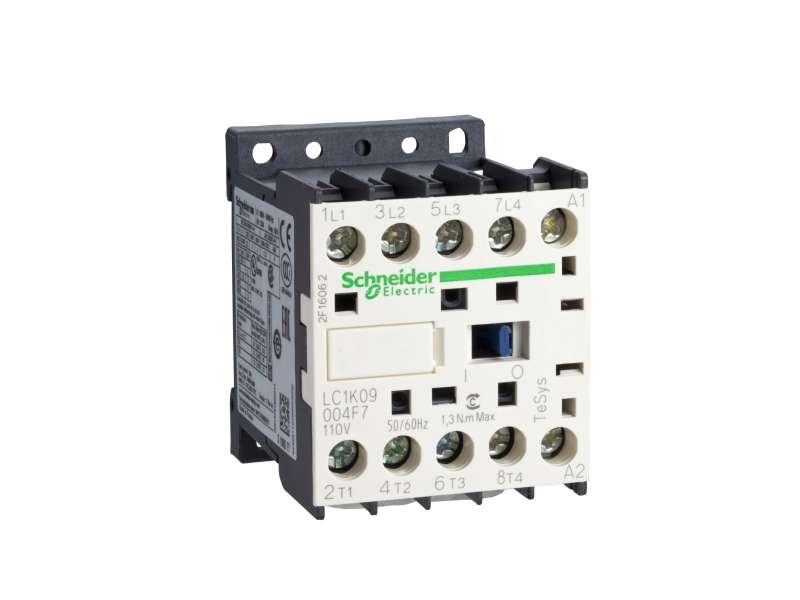 Schneider Electric TeSys K kontaktor - 4P(4 NO) - AC-1 - <= 440 V 20 A - 230 V AC kalem ; LC1K09004P7