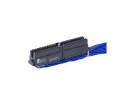 Helmholz Front connector with cables, spring type terminal, 40-pin, 2 m